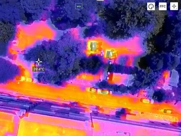 """Τα """"καυτά"""" σημεία του κέντρου της Πάτρας έτσι όπως τα κατέγραψε θερμική κάμερα"""