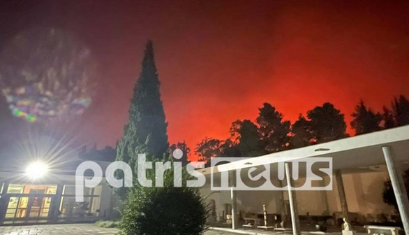 Ολονύχτια μάχη με τις φλόγες στην Ηλεία - Γλίτωσε από τη φωτιά ο αρχαιολογικός χώρος της Αρχαίας Ολυμπίας