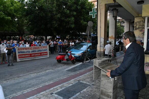 Πάτρα: Η Δημοτική Αρχή συμμετείχε στην συγκέντρωση του ΕΚΠ