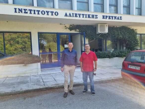 Το Ινστιτούτο Αλιευτικής Έρευνας στην Καβάλα επισκέφθηκε ο Αντιπεριφερειάρχης Αγροτικής Ανάπτυξης, Θ. Βασιλόπουλος