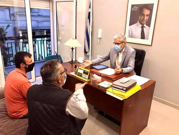 Συνάντηση Άγγελου Τσιγκρή με τη συντονιστική επιτροπή κατοίκων του Λεοντίου