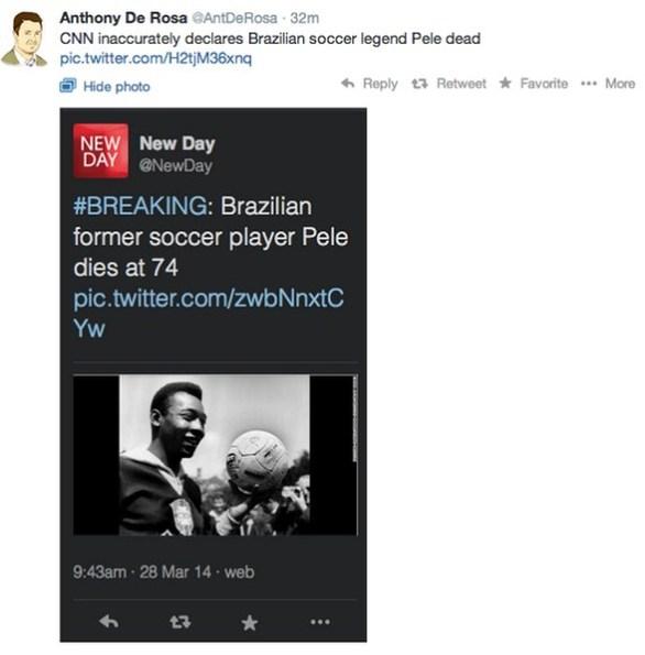 Το CNN «πέθανε» τον Πελέ - Aπίστευτη γκάφα