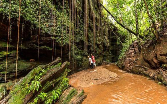 Ο συνδυασμός από πεδιάδες, χρυσούς αμμόλοφους, ποτάμια και καταρράκτες κάνει το πάρκο Jalapao ένα από τα αγαπημένα για τους περιπετειώδεις ταξιδιώτες. Μετά το ράφτινγκ στα ορμητικά νερά του ποταμού Novo μπορείτε να κολυμπήσετε στον σμαραγδένιο καταρράκτη Formiga, απολαμβάνοντας την ανέγγιχτη ομορφιά του τοπίου.