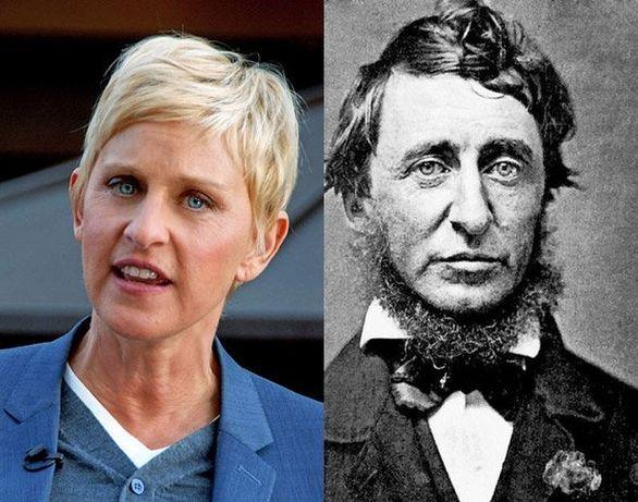 Ellen DeGeneres και Henry David Thoreau