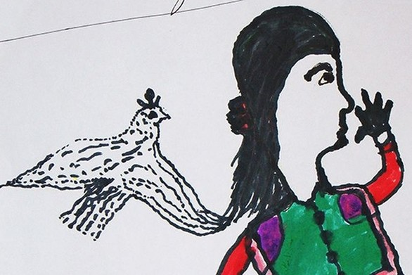 ''Ασυνόδευτοι ανήλικοι'' εκφράζονται από τη ζωγραφική (pic)
