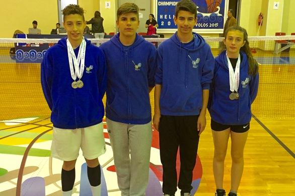 Με 6 μετάλλια επέστρεψαν οι Πατρινοί αθλητές από το Πανελλήνιο πρωτάθλημα Μπάντμιντον
