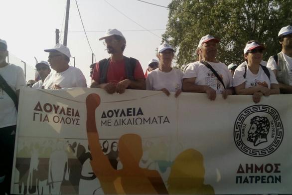 Ξεκίνησε από τους Αγίους Θεοδώρους η πορεία κατά της ανεργίας (video)