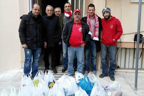 Οι Πατρινοί φίλοι της Λίβερπουλ παρέδωσαν τρόφιμα στην Κιβωτό της Αγάπης