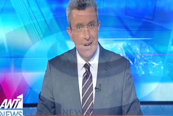 Η επιστροφή του Νίκου Χατζηνικολάου στο δελτίο ειδήσεων (video)