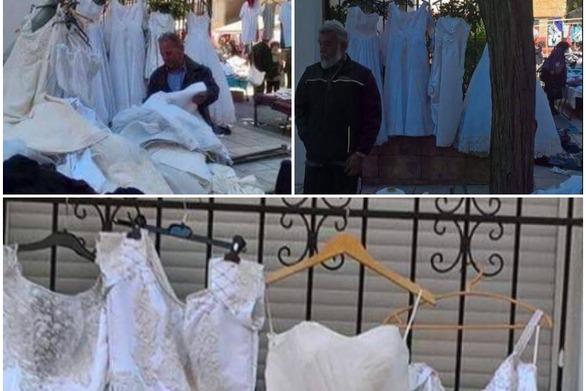 Νυφικά με το… κιλό σε λαϊκή αγορά της Πάτρας - Το είδαμε και αυτό! (pics)