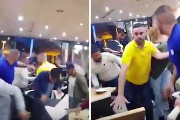 Καβγάς σε εστιατόριο με «ιπτάμενα» πιάτα και καρέκλες (video)
