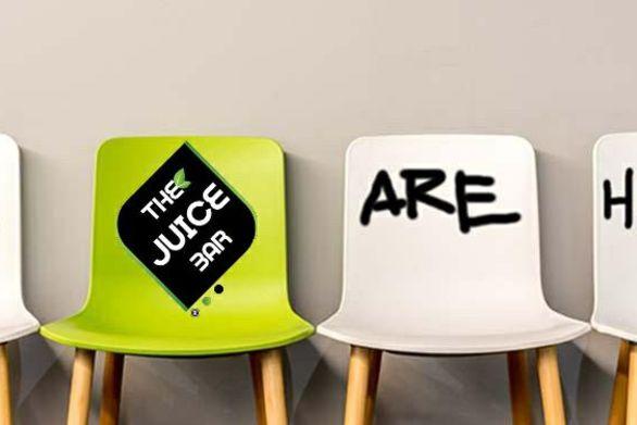 """Ζητείται προσωπικό για να εργαστεί στα καταστήματα """"Τhe Juice Bar"""" σε Πάτρα και Αθήνα"""
