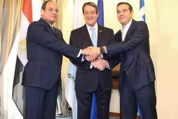 Ελλάδα, Κύπρος και Αίγυπτος υπέγραψαν κοινή διακήρυξη για οριοθέτηση των θαλασσίων συνόρων