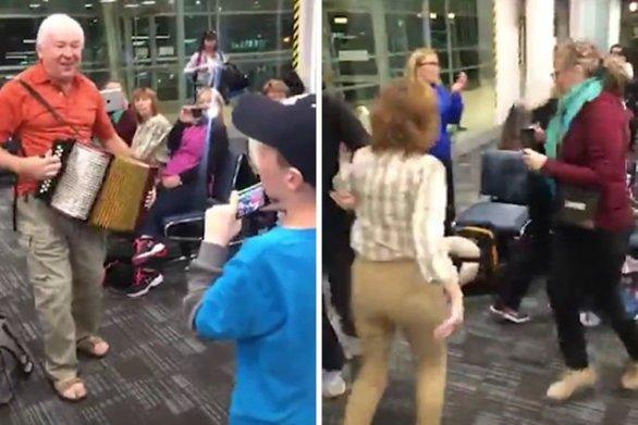 Έστησαν πάρτι στο αεροδρόμιο μέχρι να αναχωρήσει η πτήση τους (video)
