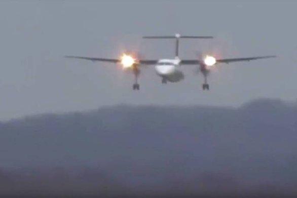 Τρομακτική προσγείωση για αεροπλάνο (video)