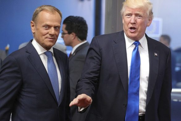"""Τουσκ σε Τραμπ: """"Κάνε εμπόριο, όχι πόλεμο κύριε πρόεδρε"""""""