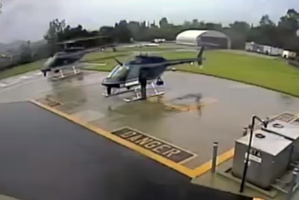 Απίστευτο ατύχημα μεταξύ δύο ελικοπτέρων (video)