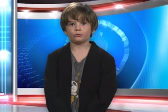 6χρονος παρουσιάζει το δελτίο καιρού και γίνεται viral (video)