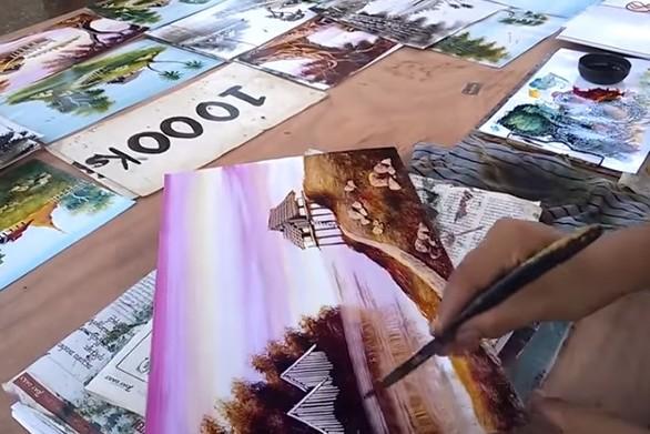 Ένας ταλαντούχος καλλιτέχνης που δημιουργεί απίστευτες ζωγραφιές (video)