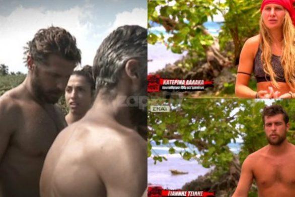 """Δαλάκα - Τσίλης """"αδειάζουν"""" τον Νάσο στο Survivor (video)"""