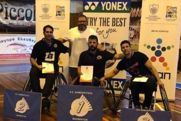 4 μετάλλια για τους αθλητές του Ήφαιστου Πατρών στο Para Badminton της Κομοτηνής