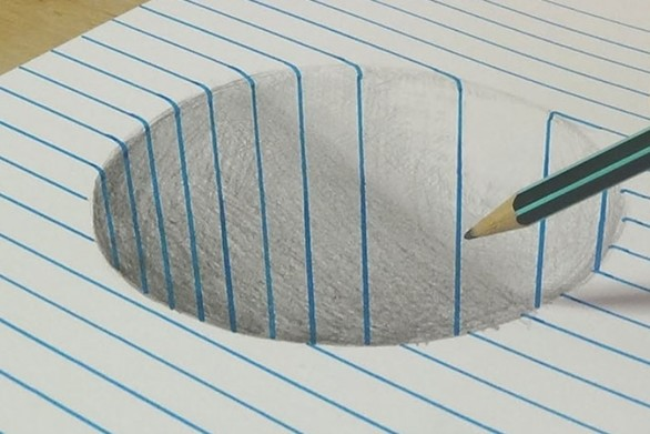 H δημιουργία μιας απίθανης οφθαλμαπάτης στο χαρτί! (video)