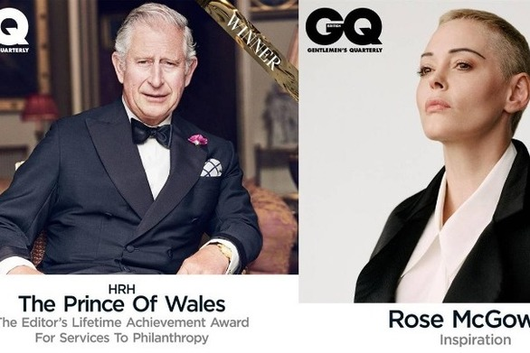 Πρίγκιπας Κάρολος και Ρόουζ Μακ Γκόουαν τιμήθηκαν στα Βραβεία της χρονιάς του GQ