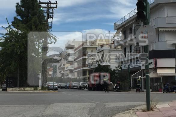 Πάτρα: Φωτιά σε κολώνα της ΔΕΗ στην Πατρών - Κλάους
