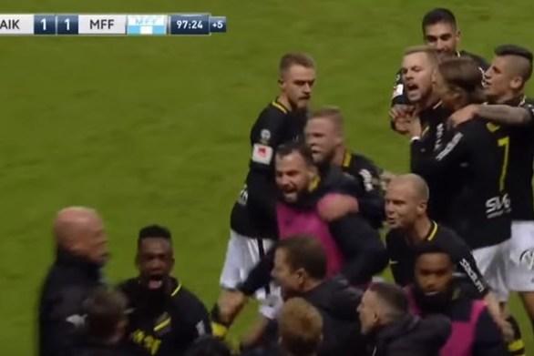 Ένας πανηγυρισμός εκτός ορίων... τίναξε στον αέρα ποδοσφαιρικό αγώνα (video)