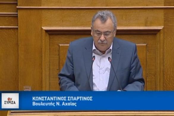 """Κ. Σπαρτινός: """"Σε πείσμα του κ. Μητσοτάκη, οι επενδύσεις στην Ελλάδα προχωρούν"""" (video)"""
