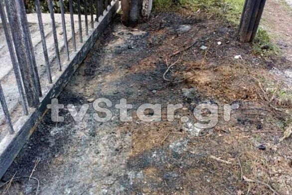 Εμπρηστικός μηχανισμός τύλιξε στις φλόγες περιπολικό στη Θήβα (pics)