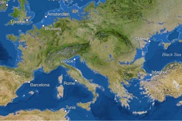 Χάρτης δείχνει ότι η κλιματική αλλαγή θα εξαφανίσει τις Κυκλάδες