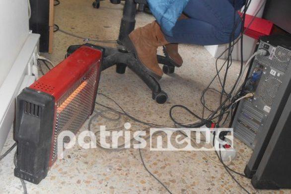 Δυτική Ελλάδα: Χωρίς θέρμανση το Τμήμα Μεταφορών και Επικοινωνιών Αμαλιάδας (φωτο)