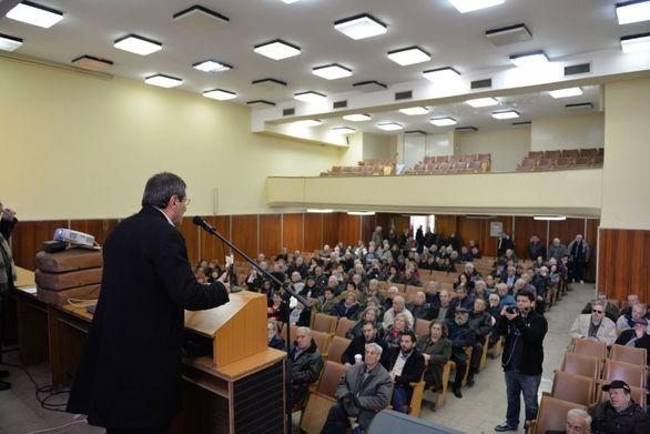 Ο Κώστας Πελετίδης στην κοπής πίτας των Συνταξιουχικών Οργανώσεων Αχαΐας (φωτο)