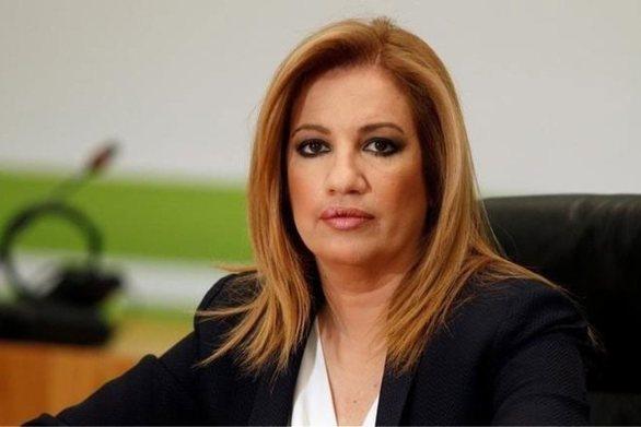 """Φώφη Γεννηματά: """"Όποιος λοξοκοιτάζει προς Τσίπρα ή Μητσοτάκη δεν έχει θέση ανάμεσά μας"""""""