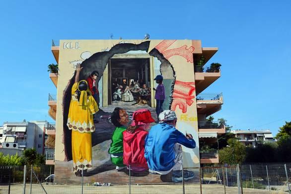 """Το mural """"Heart (w) Hole"""" εντυπωσιάζει στην Πάτρα (video)"""