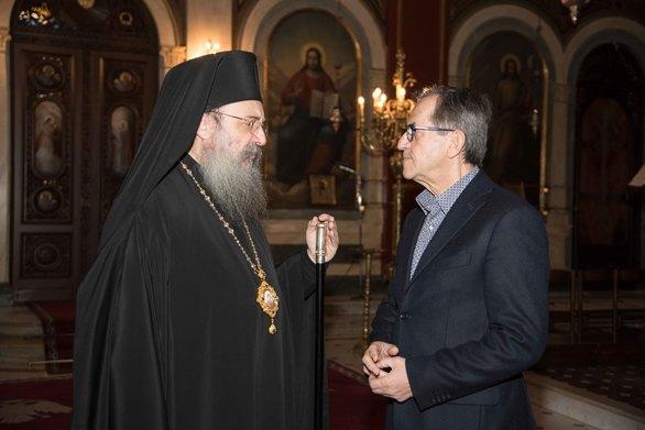 Νίκος Νικολόπουλος: Ανταλλαγή απόψεων με τον Σεβασμιότατο Μητροπολίτη Πατρών κ.κ. Χρυσόστομο