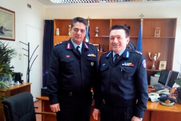 Πάτρα: Eθιμοτυπική επίσκεψη του Διοικητή της Πυροσβεστικής στην Αστυνομική Διεύθυνση Δυτικής Ελλάδας