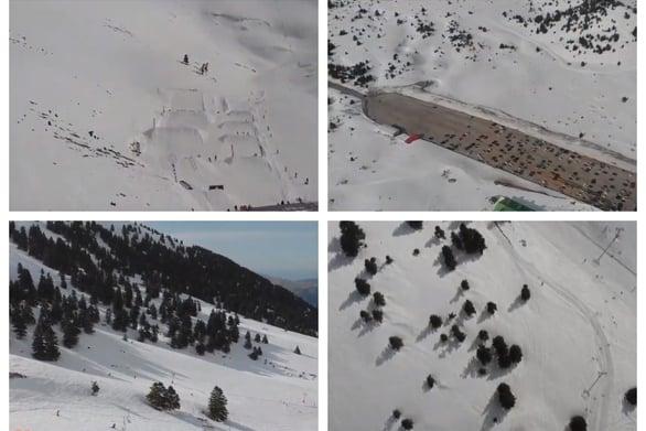 Εναέρια βόλτα πάνω από τo Χιονοδρομικό Κέντρο Καλαβρύτων (video)
