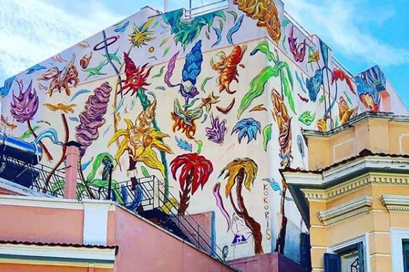 Πάτρα - Δείτε βήμα-βήμα τη δημιουργία του mural που συναντάμε στην οδό Αθανασίου Διάκου (video)