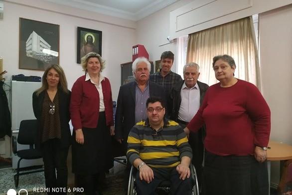 Ο Αντώνης Χαροκόπος συναντήθηκε με το Διοικητικό Συμβούλιο του Ασύλου Ανιάτων Πατρών