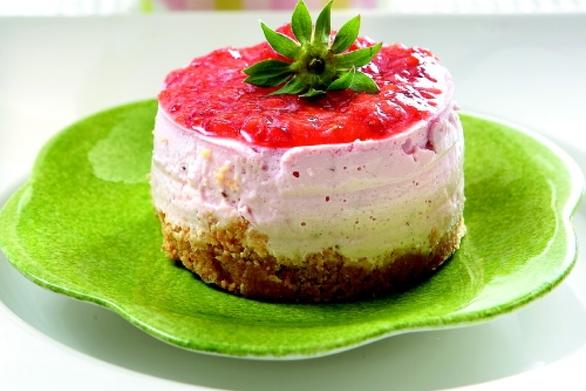 Τσιζ κέικ φράουλας