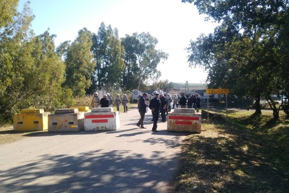 Συλλαλητήριο στη βάση του Αράξου από τις Επιτροπές Ειρήνης