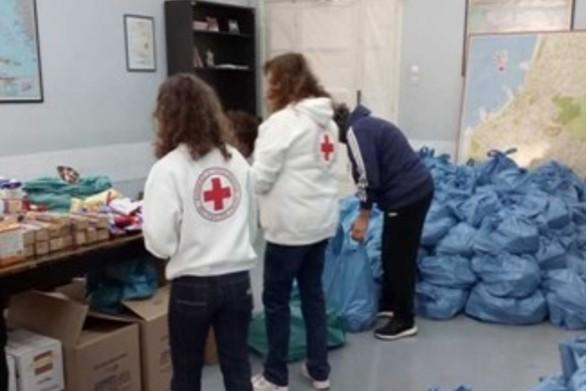 Πάτρα: Ο Ελληνικός Ερυθρός Σταυρός συγκέντρωσε τρόφιμα