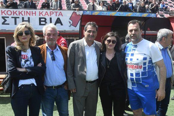 Ο Δήμαρχος Πατρέων Κώστας Πελετίδης στον αγώνα παλαίμαχων Άνω και Κάτω Πόλης (φωτο)