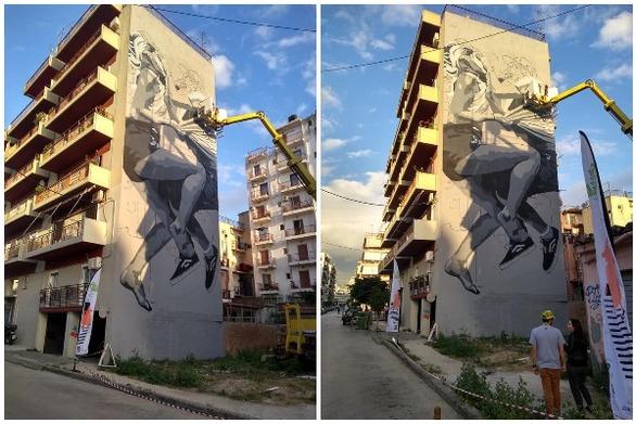 Το mural της JDL στην Πάτρα, εντυπωσιάζει προτού καν ολοκληρωθεί!