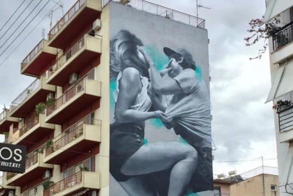 To πρώτo mural του 4ου Street Art Festival της Πάτρας ολοκληρώθηκε!