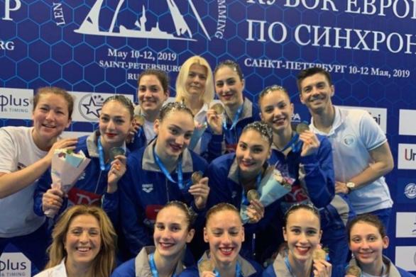 Εθνική Ελλάδας: Χάλκινο μετάλλιο στην καλλιτεχνική (συγχρονισμένη) κολύμβηση