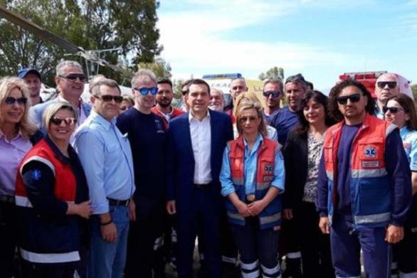 Ο Αλέξης Τσίπρας εγκαινίασε το σταθμό αεροδιακομιδής του ΕΚΑΒ στο Άκτιο