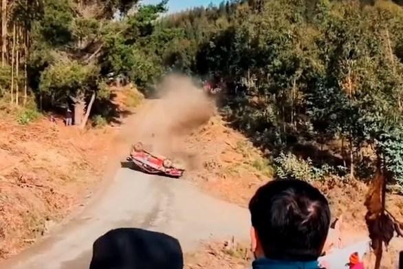 Σοκαριστικό ατύχημα στο Παγκόσμιο Πρωτάθλημα Ράλι (video)
